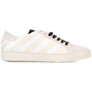 OFF WHITE Virgil Abloh Brushed Diagonals Sneakers